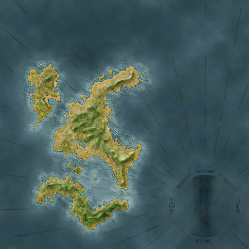 High Quality Island Map