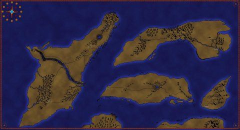 Island World Map